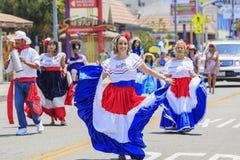 Hollywood karneval på Hollywood, Kalifornien, USA - Juni 25, 2016 arkivfoto