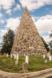 Hollywood-Kirchhof Richmond Pyramid Lizenzfreie Stockbilder