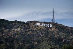 Hollywood kulle på solnedgången arkivbilder