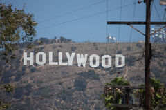 Hollywood letters, Los Angeles. Hollywood iletters icon of movie industry in USA and in the world stock image