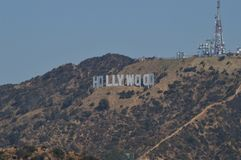 Hollywood Letters Viewed From A Very Close Point. July 7, 2017. Hollywood Los Angeles California. USA. EEUU stock images