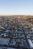 Hollywood Los Angeles aérienne verticale Photos libres de droits