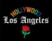 HOLLYWOOD Los Angeles tryck royaltyfri illustrationer