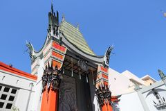 Hollywood. LOS ANGELES, USA - APRIL 5, 2014: TCL Chinese Theatre in Hollywood. Formerly Grauman's Chinese Theatre, the famous landmark dates back to 1926 Stock Images