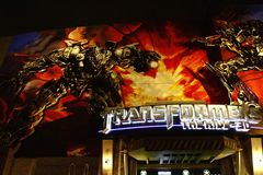 Entrance of Transformers the Ride 3D Stock Images
