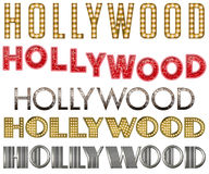 Hollywood Marquee Burlesque Word Collection. Hollywood Word Collection in various forms such as marquee, burlesque, diva, speakeasy, and vaudeville Stock Photography