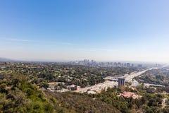 Hollywood motorväg i Los Angeles, Kalifornien royaltyfri fotografi