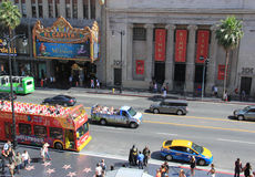 Hollywood Movie Attractions for Tourists on Hollywood Boulevard Royalty Free Stock Images