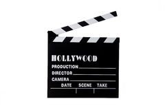 Hollywood Movie Clapboard stock images