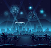 Hollywood movie premiere background celebration royalty free illustration