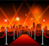 Hollywood movie red carpet Stock Photo