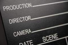 Hollywood Movie Slate Stock Photography