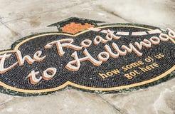 Hollywood mozaika na spacerze sława obrazy royalty free