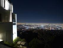 Hollywood Night. Hollywood at night from Los Angeles City Owned Griffith Observatory Royalty Free Stock Photography