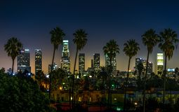 Hollywood Night in California royalty free stock images