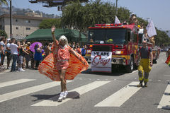 Hollywood occidental, Los Angeles, la Californie, Etats-Unis, le 14 juin 2015, quarantième Pride Parade gai annuel pour la Commun Images stock