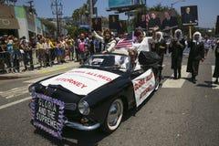 Hollywood ocidental, Los Angeles, Califórnia, EUA, o 14 de junho de 2015, 40th Pride Parade alegre anual para a comunidade de LGB Fotografia de Stock
