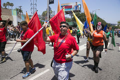 Hollywood ocidental, Los Angeles, Califórnia, EUA, o 14 de junho de 2015, 40th Pride Parade alegre anual para a comunidade de LGB Fotos de Stock