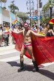 Hollywood ocidental, Los Angeles, Califórnia, EUA, o 14 de junho de 2015, 40th Pride Parade alegre anual para a comunidade de LGB Foto de Stock Royalty Free