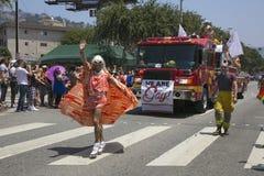 Hollywood ocidental, Los Angeles, Califórnia, EUA, o 14 de junho de 2015, 40th Pride Parade alegre anual para a comunidade de LGB Imagens de Stock