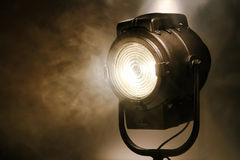 Hollywood Old Movie Studio Fresnel Hot Spot Light Stock Image