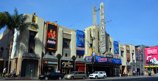 Hollywood Pantages Theatre. HOLLYWOOD CA USA 04 14 15: Hollywood Pantages Theatre or RKO Pantages Theatre it was the last theater built by the impresario Stock Images