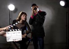 Hollywood producenter Royaltyfri Bild