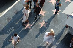 Hollywood - promenade de la renommée avec Marilyn Monroe Photographie stock