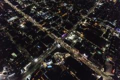 Hollywood-Querstation an der Antenne Hochland-Allee Los Angeles Kalifornien Nacht stockfotografie