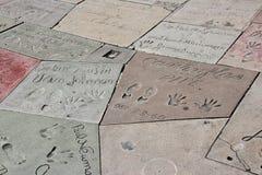 Hollywood ręki druki Zdjęcie Stock