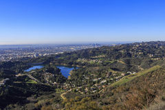 Hollywood reservoir from top Stock Photo