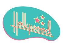 Hollywood Retro vektordesign med stjärnor stock illustrationer