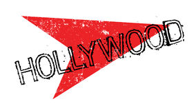 Hollywood rubber stamp. Grunge design with dust scratches. Effects can be easily removed for a clean, crisp look. Color is easily changed Stock Photos
