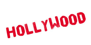 Hollywood rubber stamp. Grunge design with dust scratches. Effects can be easily removed for a clean, crisp look. Color is easily changed Royalty Free Stock Images