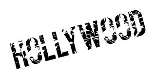Hollywood rubber stamp. Grunge design with dust scratches. Effects can be easily removed for a clean, crisp look. Color is easily changed Stock Photo