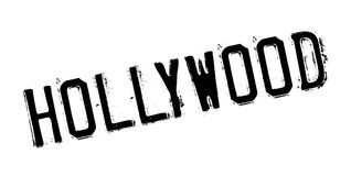Hollywood rubber stamp. Grunge design with dust scratches. Effects can be easily removed for a clean, crisp look. Color is easily changed Stock Image