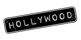 Hollywood rubber stamp. Grunge design with dust scratches. Effects can be easily removed for a clean, crisp look. Color is easily changed Stock Photography