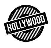 Hollywood rubber stamp. Grunge design with dust scratches. Effects can be easily removed for a clean, crisp look. Color is easily changed Stock Images