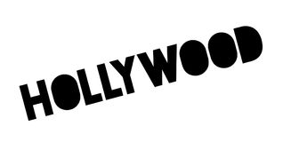 Hollywood rubber stamp. Grunge design with dust scratches. Effects can be easily removed for a clean, crisp look. Color is easily changed Royalty Free Stock Photos