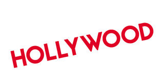 Hollywood rubber stamp Stock Images