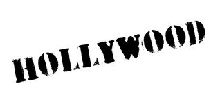 Hollywood rubber stamp Royalty Free Stock Photo