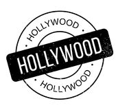 Hollywood rubber stamp. Grunge design with dust scratches. Effects can be easily removed for a clean, crisp look. Color is easily changed Royalty Free Stock Image