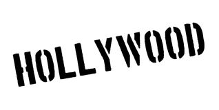 Hollywood rubber stamp. Grunge design with dust scratches. Effects can be easily removed for a clean, crisp look. Color is easily changed Royalty Free Stock Photo