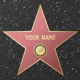 Hollywood-Ruhmstern vektor abbildung