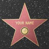 Hollywood sławy gwiazda ilustracja wektor
