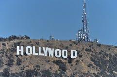 Hollywood-Schriftzug stockfoto