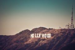 Hollywood-Schriftzug Lizenzfreies Stockfoto