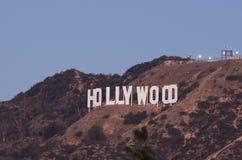 Hollywood-Schriftzug an der Dämmerung Stockbild