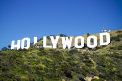 Hollywood Sign. In the Hollywood Hills, Los Angeles, California Stock Photos