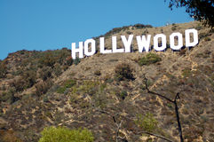 Hollywood Sign. On hills in Los Angeles California USA Stock Image
